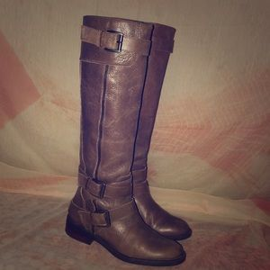 Enzo Angiolini Gray Knee High Leather Boot 6M